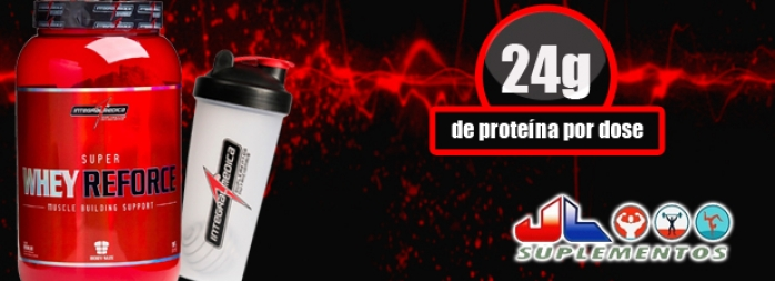 1 Super Whey Reforce 907g + 1 Coqueteleira 750ml